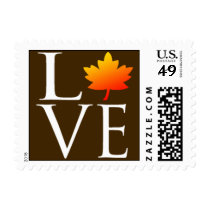 Fall In Love Wedding Invitation RSVP Save The Date Postage Stamp