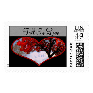 Fall IN Love Wedding Postage