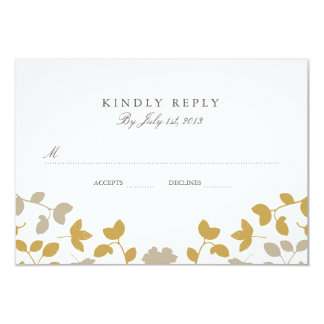 Fall in Love Wedding RSVP Card