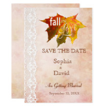 Fall in Love Wedding SAVE THE DATE Invitation