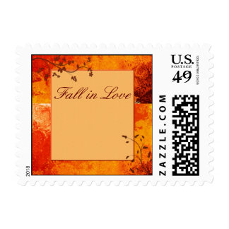Fall in love wedding stamps