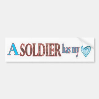 Fall in Love with a Soldier Bumper Sticker