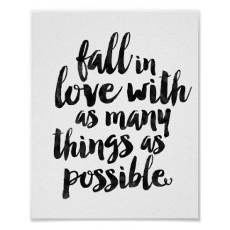Fall In Love With as Many Things as Possible Poster
