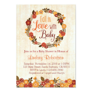 Fall in Love with Baby Shower Invitation