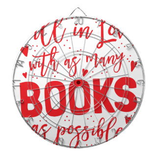 fall in love with books as possible dartboard