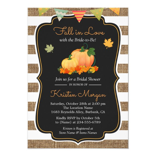 30 fall in love bridal shower invitations mimoprints fall in love with bride to be autumn bridal shower invitation filmwisefo Gallery