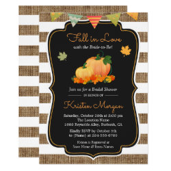 Fall in Love with Bride to Be Autumn Bridal Shower Invitation