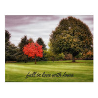 Fall in Love with Iowa Postcard