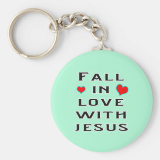 Fall in Love with Jesus Keychain