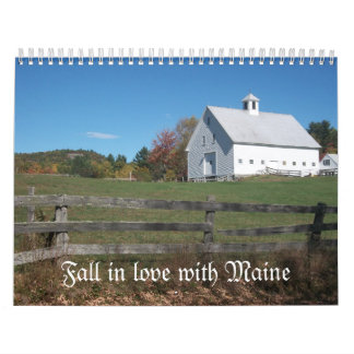 Fall in love with Maine Calendar