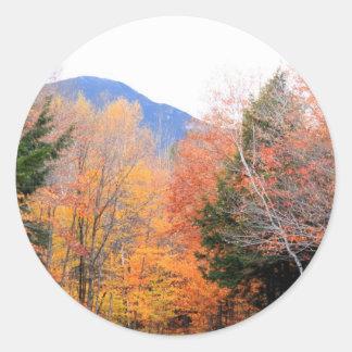Fall in Maine Classic Round Sticker