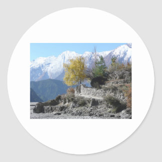 Fall in Nepal picture Classic Round Sticker