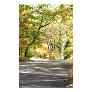 Fall in New England Back Road Stationery