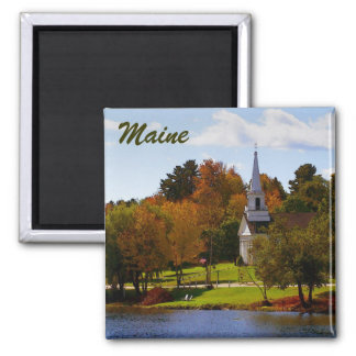 Fall in Orland, ME 2 Inch Square Magnet