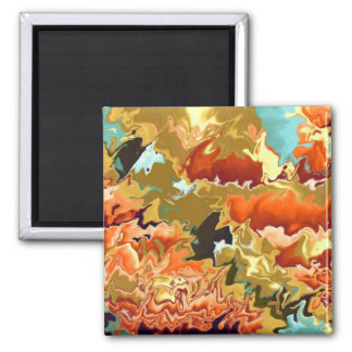 Fall In The Air 2 Inch Square Magnet