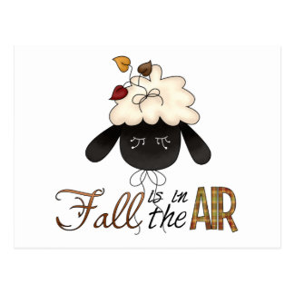 fall in the air sheep head post cards