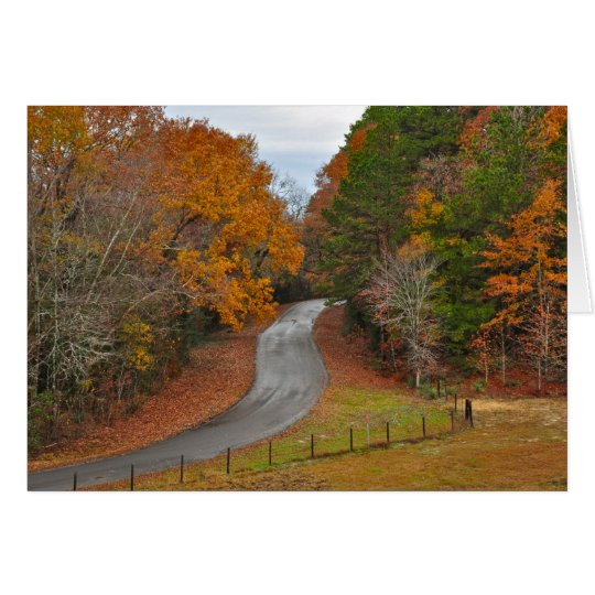 Fall in the Country Card