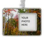 Fall in the Forest Colorful Autumn Photography Christmas Ornament