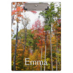 Fall in the Forest Colorful Autumn Photography Clipboard