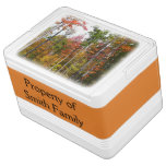 Fall in the Forest Colorful Autumn Photography Cooler