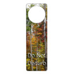 Fall in the Forest Colorful Autumn Photography Door Hanger