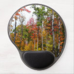 Fall in the Forest Colorful Autumn Photography Gel Mouse Pad
