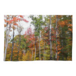 Fall in the Forest Colorful Autumn Photography Hand Towel
