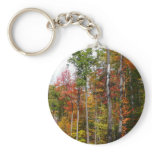 Fall in the Forest Colorful Autumn Photography Keychain