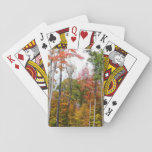 Fall in the Forest Colorful Autumn Photography Playing Cards