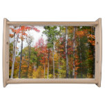 Fall in the Forest Colorful Autumn Photography Serving Tray