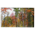 Fall in the Forest Colorful Autumn Photography Table Card Holder