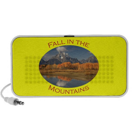 fall in the mountains laptop speaker