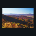 """Fall in the Shenandoah Valley, Virginia Canvas Print<br><div class=""""desc"""">The Shenandoah Valley glows with Fall colors.  As seen from Shenandoah National Park in Virginia looking west with Massanutten Mountain in the background.</div>"""
