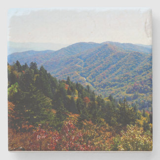 Fall in the Smokys Stone Coaster