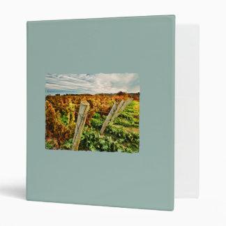 Fall in the Vineyard Sky 3 Ring Binder