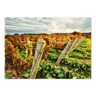 "Fall in the Vineyard Sky 5"" X 7"" Invitation Card"