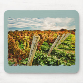 Fall in the Vineyard Sky Mouse Pad