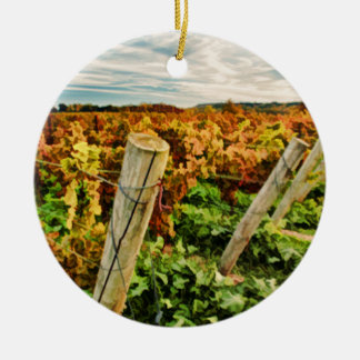 Fall in the Vineyard Sky Ornaments