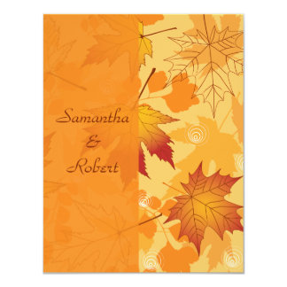 Fall Intensity Personalized Thank You / Notecard 4.25x5.5 Paper Invitation Card