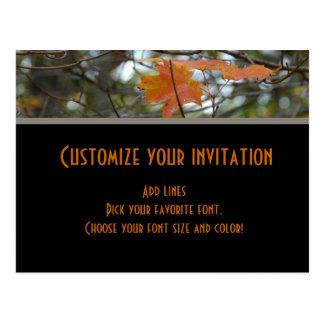 Fall invitation postcard