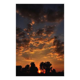Fall Iowa Sunset Photographic Print