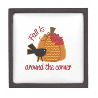 Fall Is Around The Corner Premium Trinket Boxes