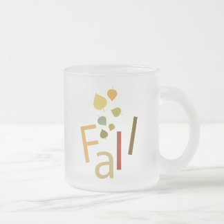 Fall is Falling Frosted Glass Coffee Mug