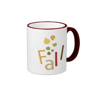 Fall is Falling Ringer Mug