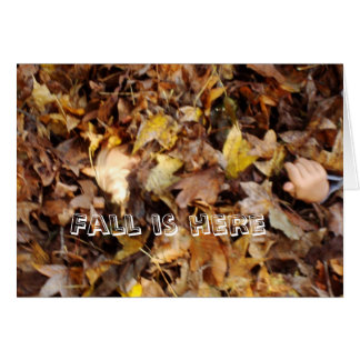 Fall is here card