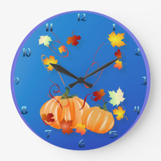 Fall Is Here Large Clock