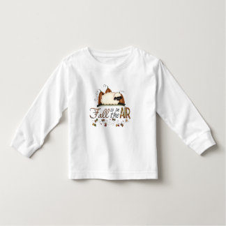 """""""Fall is in the Air"""" Autumn Sheep Toddler Top"""