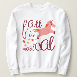 Fall Is Magical Peach Unicorn Sweatshirt