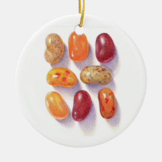 Fall Jelly Beans Circle Ornament (2 sided)