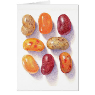 Fall Jelly Beans Notecard (Blank) Stationery Note Card